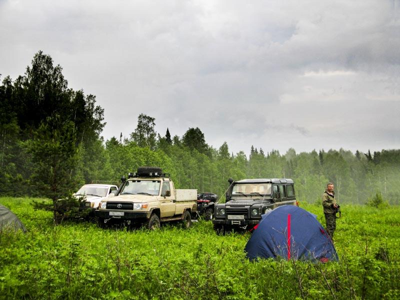 Лагерь на берегу реки Сылва