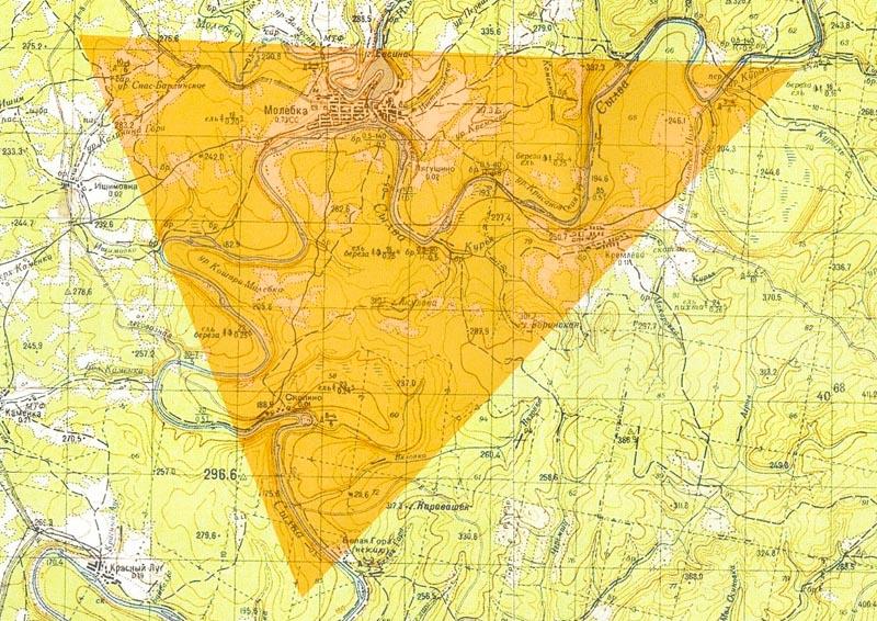Пермская аномальная зона. Карта.