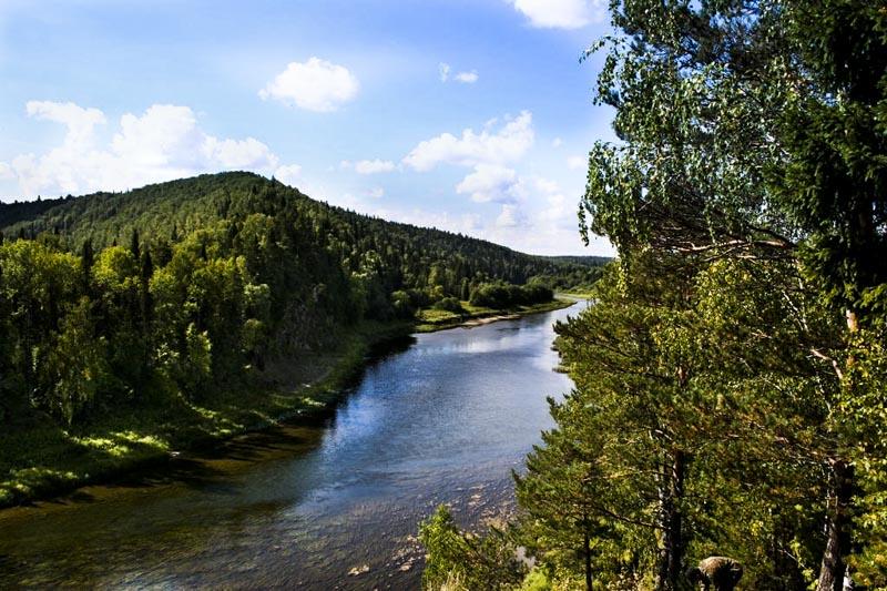 река Сылва у деревни Молебка Пермский треугольник