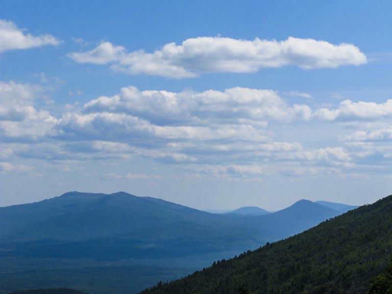 Панорама с горы Конжаковский камень