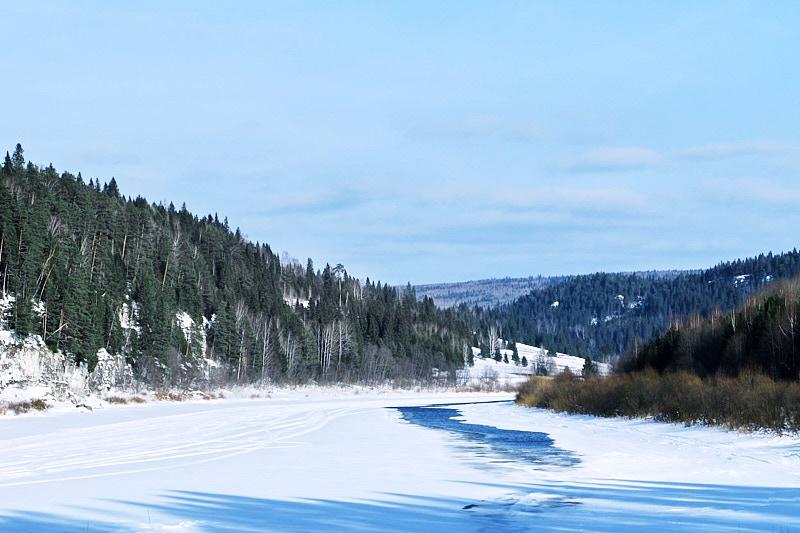 Зима на реке Чусовая