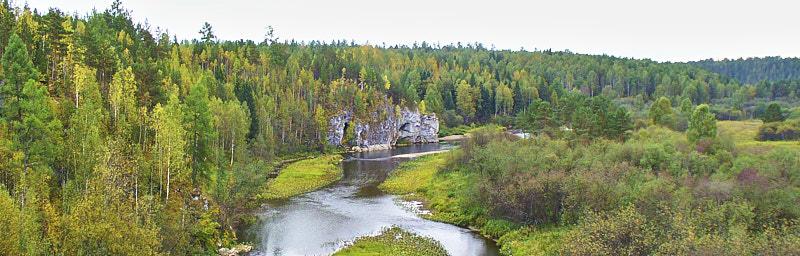Панорама на реку Серга