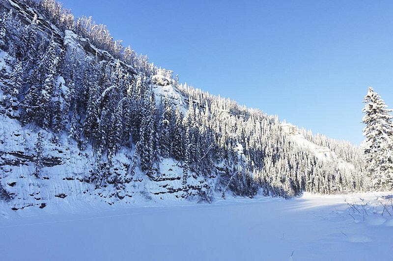 Река Усьва зимой
