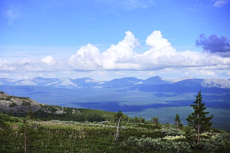 Уральские Горы до горизонта