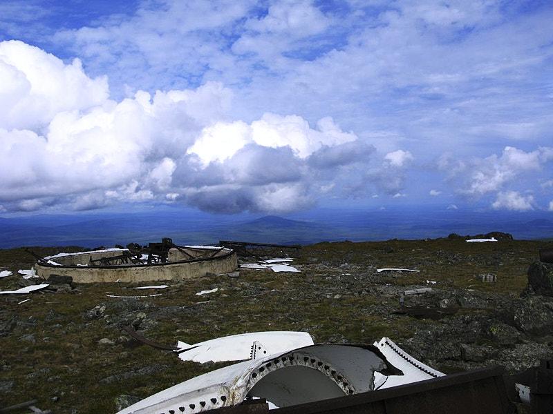 Останки станции РЛС на горе Чистоп