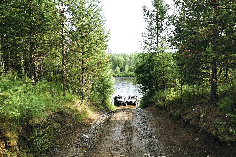 Начало сплава на реке Вижай