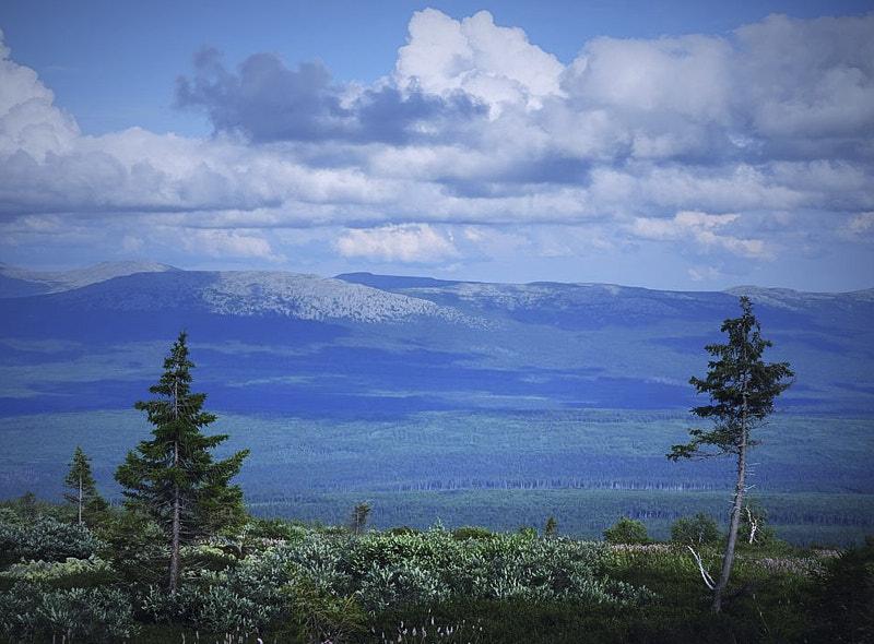 Вид на Уральский хребет