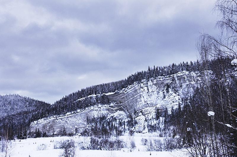 Река Ивдель зимой