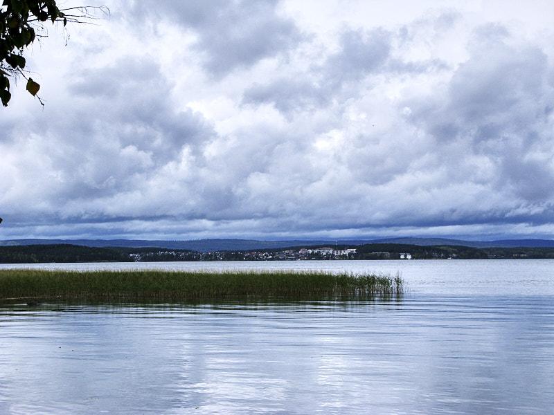 Озеро Таватуй и посёлок Калиново летом
