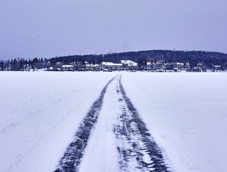 Озеро Таватуй и посёлок Калиново