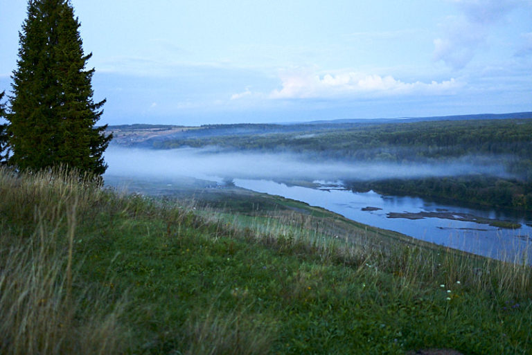 Река Сылва осенью